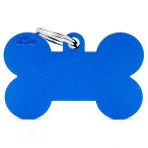Myfamily Médaille basic os XL chien en aluminium bleu