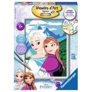 Ravensburger Numéro d'Art lignes colorées Elsa et Anna La Reine des Neiges