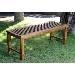 Wood-en-stock Banc de jardin en teck huilé 120  x 43 x 43 cm