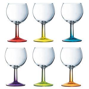 luminarc 6 verres vin pied french brasserie crazy colors 19 cl comparer avec. Black Bedroom Furniture Sets. Home Design Ideas