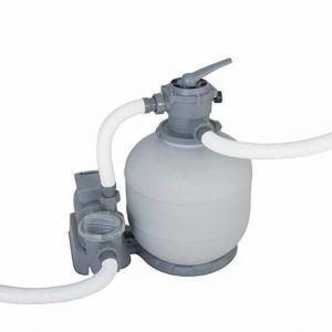 Bestway Filtration piscine avec adaptateurs : filtre à sable + pompe 7.57m3/h
