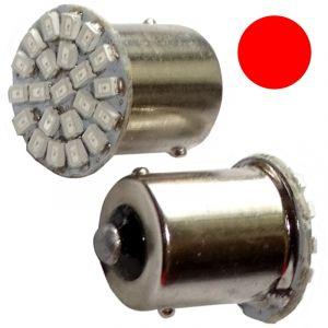 Aerzetix : 2x ampoule 24V P21W R10W R5W 22LED SMD rouge pour camion semi-remorque porte de garage portail