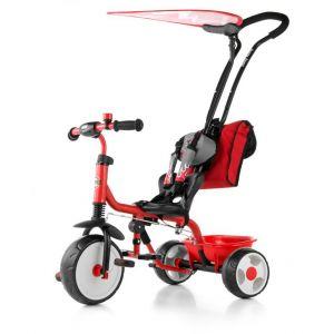 Milly Mally Boby Deluxe - Tricycle bébé enfant 18-36 mois avec auvent amovible et repose-pieds