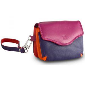 Dudu Petit sac à main pour femme en cuir avec anse de poignet de Fuchsia