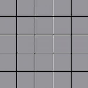 Alloy Mosaïque métal massif Carrelage Acier inoxydable matt gris Grosseur 1,6mm Century-S-S-MA 0,5 m2