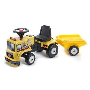 Falk Porteur Baby camion de chantier avec remorque