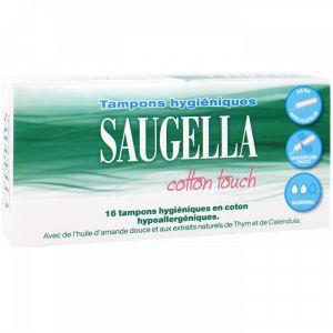 Saugella Cotton touch - Tampons hygiéniques normal, 16 unités