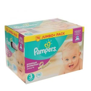 Pampers Active Fit T3 - 74 couches