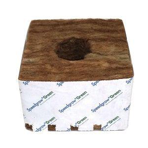SpeedGrow Green 10 cubes de laine de roche 10x10x6,5cm