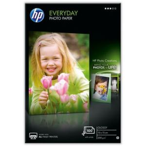 HP Papier photo brillant Everyday 10x15 cm