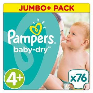 Pampers Baby Dry -  Jumbo+ Pack taille 4+ (9-18 kg) - 76 couches