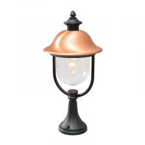Image de MW Lampe de jardin lanterne noire cuivrée