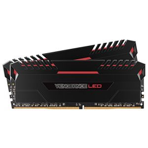 Corsair Vengeance LED Series 32 Go (2x 16 Go) DDR4 3200 MHz CL16 Noir / rouge