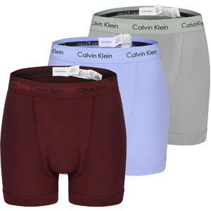 Calvin Klein Underwear 3pk Trunk boxer gris bleu bordeaux M EU