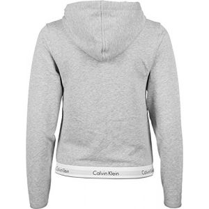 Calvin Klein Top Hoodie Full Zip Sweat-Shirt À Capuche, Gris