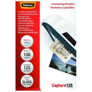 Fellowes 5397402 - Boîte de 100 pochettes Capture125, format 60x90mm, 2 x 125µ