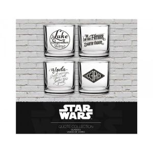 SD Toys 4 verres Star Wars assortiment Phrases Cultes