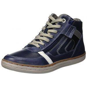 Geox Jr Garcia B, Baskets Hautes Garçon, Bleu (Navy C4002), 38 EU