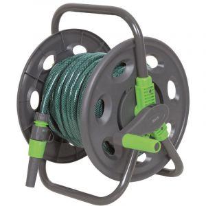 Heliotrade Enrouleur de tuyau de jardin portable avec 15 m de tuyau
