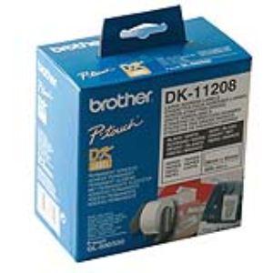 Brother DK11208 - 400 étiquettes adresses autocollante (3,8 x 9,0 cm)