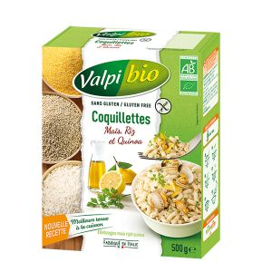 Valpibio Coquillettes maïs riz quinoa Bio 500g