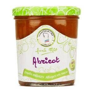 Francis Miot Confiture d'abricot allegée en sucre - Pot 320g