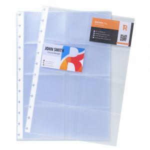 Exacompta Coque pour cadeau de visite à anneaux 23 x 30,5 cm (A4), 10 enveloppes avec 8 compartiments