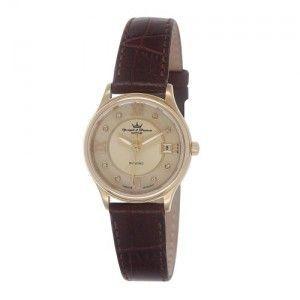 Yonger & bresson DCP 1688-05 - Montre pour femme avec bracelet en cuir