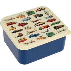 Rex London Boîte à goûter transport vintage bleu