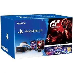 Sony Playstation VR + Eye Camera V2 + Gran Turismo Sport + VR Worlds