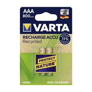 Varta Recharge Batterie Recycled Aaa Micro 2 800 Mah