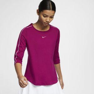 Nike Haut de tennisà manches 3/4 Court pour Femme - Pourpre - Couleur Pourpre - Taille XL