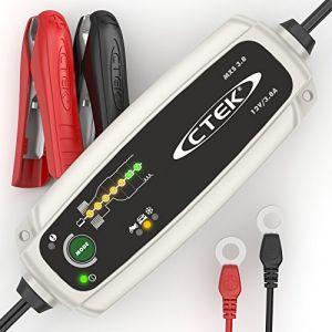 Ctek MXS 3.8 Chargeur de batterie entièrement automatique (Charge, maintient et reconditionne les batteries auto et moto) 12V, 5 Amp – prise EU