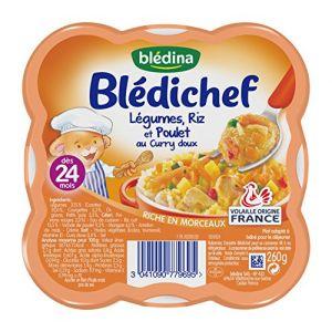Blédina Blédichef Légumes, riz et poulet au curry doux 260 g - dès 24 mois