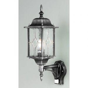 Pegane Lanterne murale haute avec détecteur Wexford - Dim : H 532 x Larg / Dia 159 x P 286 mm