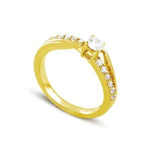 Rêve de diamants 3612030096198 - Bague en or jaune sertie de diamants