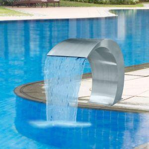 VidaXL Fontaine lame d'eau en acier inoxydable pour piscine 45 x 30 60 cm