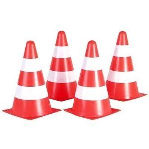 Hudora Sécurité routière: 4 cônes