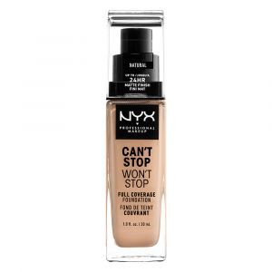 NYX Cosmetics Can't stop won't stop Natural - Fond de teint couvrant