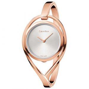 Calvin Klein Femme Analogique Quartz Montre avec Bracelet en Acier Inoxydable K6L2M616