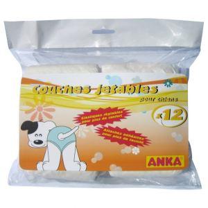 Anka Couches jetables pour chiens (Sachet de 12)