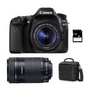 Canon EOS 80D (avec 2 objectifs 18-55mm et 55-250mm)