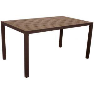 Hévéa Table de jardin en aluminium Sarana 150 cm Bronze marron