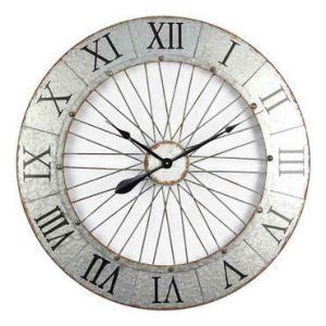 Conforama Horloge argenté 80 cm BICYCLETTE