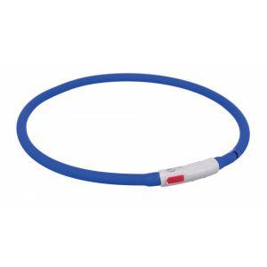 Trixie Flash anneau lumineux usb - XS-XL: 70 cm/ø 10 mm, bleu royal