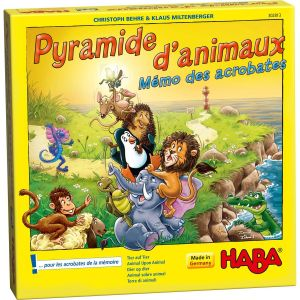 Haba Pyramide d'animaux : Mémo des acrobates