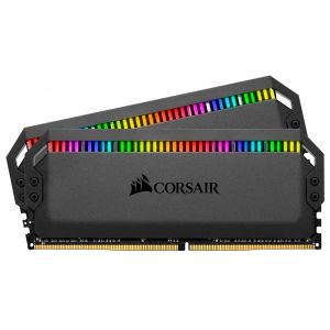 Corsair Dominator Platinum RGB 32 Go (2 x 16 Go) DDR4 3466 MHz CL16 Black