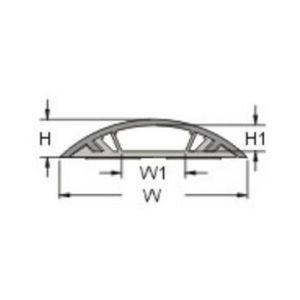 KSS Protège câble rigide pour câble Ø 33 x 10 mm marron (L x l x h) 100 x 6 x 1.38 cm RDAR60ABNWM