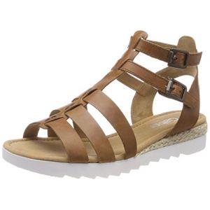 Gabor Shoes Comfort Sport, Sandales Bride Cheville Femme, Marron (Peanut Jute), 38.5 EU
