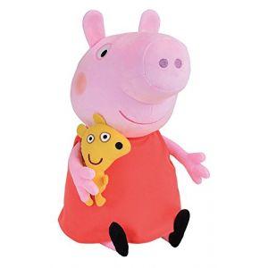 Jemini Peluche Peppa Pig avec mascotte 45 cm